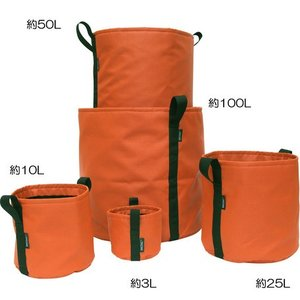 【BACSAC COLOR】ポット POTIRON orange<袋のプランター> (約10L) BC-602|fan-field