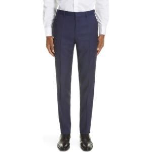 ボス メンズ ドレス  Genesis Flat Front Slim Fit Solid Wool...