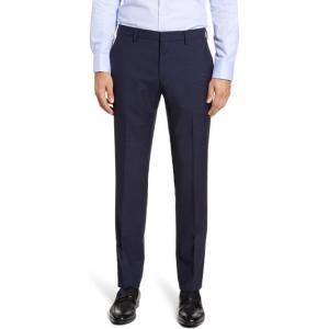 ボス メンズ ドレス  Genesis Flat Front Check Wool Dress Pa...