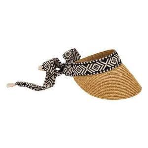 ダイヤモンド レディース 帽子 ハット San Diego Hat Company Women's  Visor with Diamond Jacquard Tie Back Trim UBV046|fancyowl