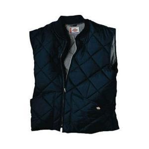 ダイヤモンド メンズ ファッション アウター Dickies Men's  Diamond Quilted Nylon Vest Dark Navy Size M (38)|fancyowl