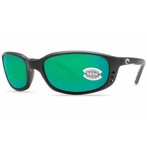 ブライン メンズ アクセサリー サングラス NEW Costa del Mar Brine BR 11 OGMGLP Matte Black Frame / Green Mirror 580G Lens|fancyowl