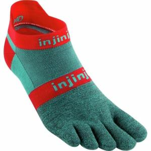 インジンジ メンズ 下着 ソックス/靴下 Injinji Run Lightweight Coolmax No-Show Toe Sock Aquaberry L|fancyowl