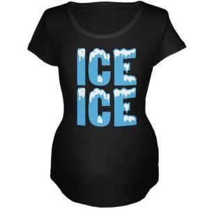レディース 衣類 トップス Ice Ice Baby Black Maternity Soft T-...