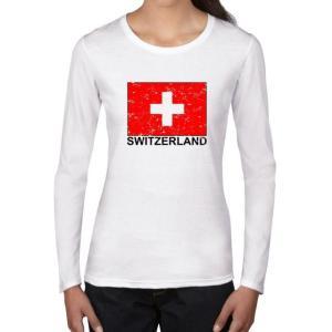 レディース 衣類 トップス Switzerland Flag - Special Vintage E...