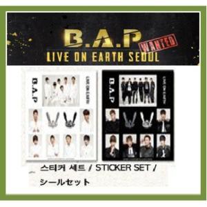 【公式グッズ】B.A.P(ビ−エイピ-) bap 2013 LIVE ON EARTH SEOUL WANTEDステッカーセット【メール便可】|fani2015