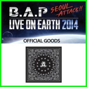 【公式グッズ】B.A.P(ビ−エイピ-) bap 2014 LIVE ON EARTH SEOUL コンサートグッズ【バンダナ】|fani2015