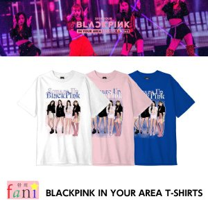 BLACKPINK [T-SHIRTS PINK/Msize] BLACKPINK IN YOUR AREA OFFICIAL GOODS【YG公式グッズ】 fani2015