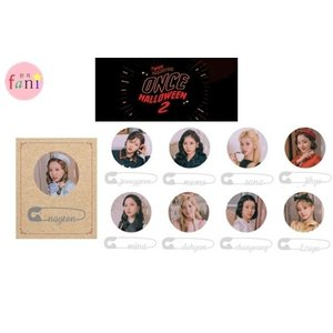 TWICE PIN BUTTON SET [TWICE FANMEETING ONCE HALLOWEEN 2 GOODS] TWICE 公式グッズ