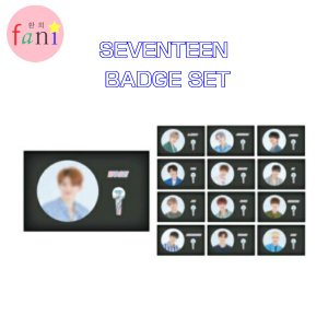 SEVENTEEN BADGE SET 2019 WORLD TOUR 'ODE TO YOU' OFFICIAL GOODS SVT 公式グッズ|fani2015