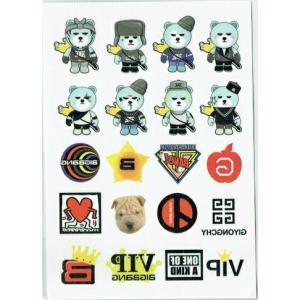 BIGBANG ビッグバン YG BEAR YGベア KRUNK ART TOY タトゥーステッカー【メール便可】|fani2015