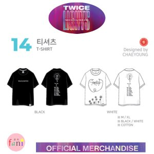 TWICE(トゥワイス)-[T-SHIRT]BLACK,WHITE/Msize, XLsize選択別 LIGHTS TWICE WOLRD TOUR 2019 OFFICIAL GOODS|fani2015