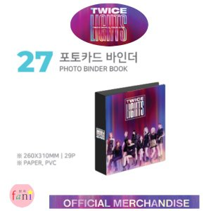 TWICE (トゥワイス) [PHOTO BINDER BOOK] LIGHTS TWICE WOLRD TOUR 2019 OFFICIAL GOODS twice 公式グッズ|fani2015