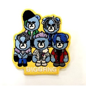 BIGBANG(ビッグバン)キャラクター ワッペン(イエロー)/CHARACTER WAPPEN(YELLOW)【メール便可】|fani2015
