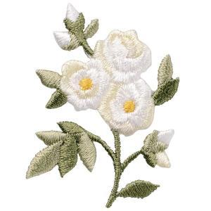 ワッペン(Botanical-ボタニカル-)モッコウバラ ハンドメイド 手芸 花 10%割引