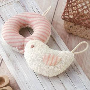 オーガニックコットンなので、デリケートな赤ちゃんにやさしい手作りキットです☆ ピンクのストライプがか...