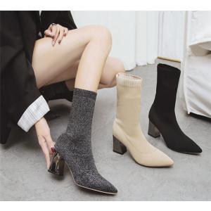 選べる2丈!ショートブーツ ソックスブーツ 靴 シューズ レディース ムートンブーツ  秋 大きいサイズ 冬 暖かい かわいい おしゃれ ソックスシューズ|fanshopmatsuda