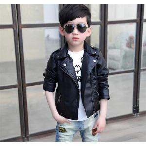 ca39355c9da2a キッズ フェイクレザージャケット アウター ジュニア ライダース ライダースジャケット 女の子 男の子 子供服 ブルゾン かわいい