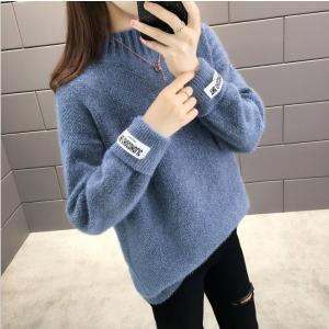 ニットセーター  もこもこふわふわ  レディース トップス プルオーバー 長袖ハイネック ゆったり8色大きいサイズ 厚手 暖かい S〜3XL韓国ファッション可愛|fanshopmatsuda