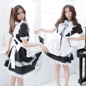 ハロウィン コスプレ コスチューム コスプレ衣装 セクシーコスチューム レディース 制服 メイド服 メイド セクシー コスプレ 大きいサイズ 8サイズ パフスリーブ