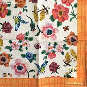 ナタリー・レテ ハンカチ フラワーズ&リトル・バーズ ナタリーの花と小鳥ハンカチ