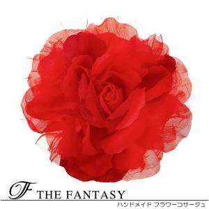 コサージュ 入学式 コサージュ フォーマル 2way ヘッドドレス ばら 大輪 結婚式 髪飾り fh12047rd