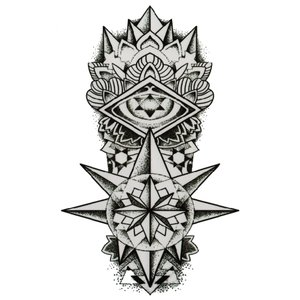 (ファンタジー) TheFantasy タトゥーシール トライバル 太陽の塔? hb109 【中型・A5】...