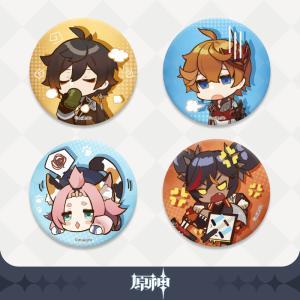 【原神】公式グッズ ちびキャラ 缶バッジ  第一弾Genshin