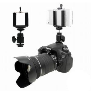 一眼レフに最適 スマートフォン取り付けアダプター カメラ用 スマホ装着グレードル 角度調整可能 一眼レフカメラに取り付けて同時撮影