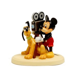 ゴーベル ミッキーマウスとプルート陶器フィギュアリン ディズニアナコンベンション限定版【セール】 ディズニー|far-out