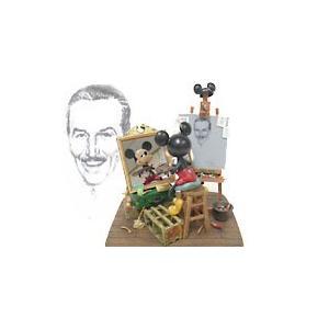 ミッキーマウス セルフポートレイト フィギュアリン チャールズ・ボイヤー作 ディズニー|far-out