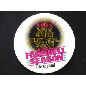 DL エレクトリカルパレード 終演記念 ホワイト 缶バッジ 缶バッチ ディズニー 【セール】|far-out