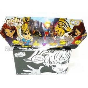 ポーリーポケット DCコミック75周年 コミコン・インターナショナル 2010年 スーパーガール、バットガール、ワンダーウーマン PVCフィギュアセット far-out
