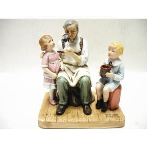 ノーマン・ロックウェル The Toymaker おもちゃ修理屋さん フィギュアリン 1979年|far-out