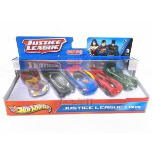 ホットウィール Justice League DCコミック スーパーヒーロー メタル ダイキャストミニカー 5点入りセット far-out