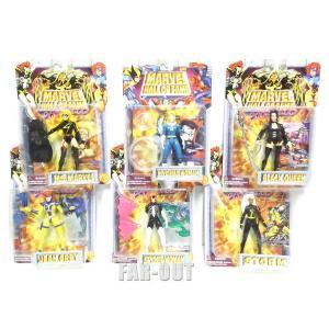マーベルコミック スーパーヒーロー ウーマン She Force アクションフィギュア Marvel Hall of Fame 6点セット 1990年代 far-out