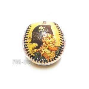 ディズニー野球ボール カリブの海賊 w/ オウム、スカル パイレーツオブカリビアン アトラクション ベースボール 硬球 テーマパーク限定|far-out
