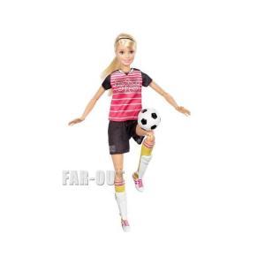 バービー メイドトゥームーブ サッカー選手 ポーザブル ブロンドヘア ドール 人形 Barbie Made To Move|far-out