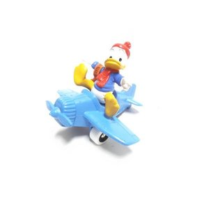 ドナルド 飛行機 ブルー PVCフィギュア Bully社 1980年代 ディズニー|far-out