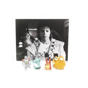 キャプテンEO マイケル・ジャクソン スチール写真& PVCフィギュア4点セット アトラクション ディズニーランド|far-out