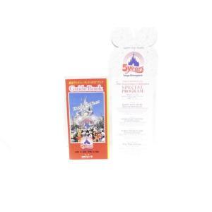東京ディズニーランド 5周年記念 1988年 配布ガイドブック&ショースケジュール far-out