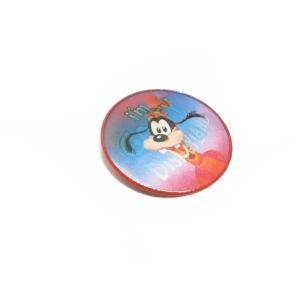 グーフィー レンチキュラー モーション バッジ ヴィンテージ 赤枠 ディズニーランド Disneyland Goofy|far-out