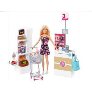 バービー スーパーマーケット グローサリーストア プレイセット ドール Barbie Supermarket Playset Doll|far-out