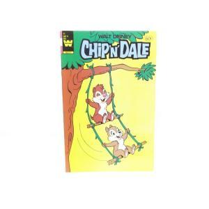 チップ&デール コミックブック 木の枝でブランコ 表紙 WHITMAN 1984年 ヴィンテージ まんが ディズニー チップとデール|far-out