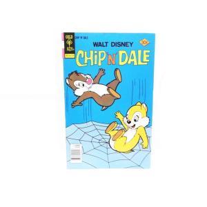 チップ&デール コミックブック クモの巣でトランポリン 表紙 GOLD KEY 1977年 ヴィンテージ ディズニー チップとデール|far-out