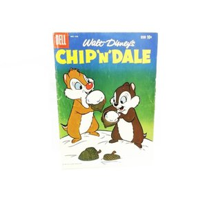 チップ&デール コミックブック 雪とどんぐりでソフトクリーム 表紙 DELL 1959年 ヴィンテージ ディズニー チップとデール|far-out