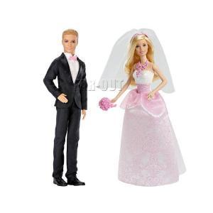バービー&ケン ウェディング 結婚式 Barbie & Ken ドール 人形 2点セット 輸入版 ブライド&グルーム ブロンドヘア(CFF37,DVP39)|far-out