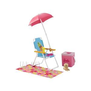 バービー Barbie Picnic ビーチパラソル&チェア プレイセット ピクニック 家具|far-out