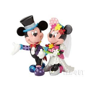 ロメロ・ブリット ミッキー&ミニー Mickey & Minnie Wedding フィギュア ウェディング 結婚式 ラージサイズ Disney by BRITTO|far-out