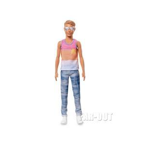 バービー ケン ファッショニスタ ストライプのタンクトップ&スリムジーンズ  w/シルバーサングラス ドール 人形 KEN Fashionistas|far-out